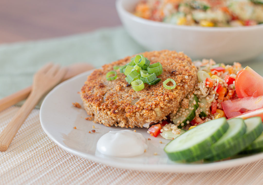 Quinoa Meat Replacer with Quinoa Batter